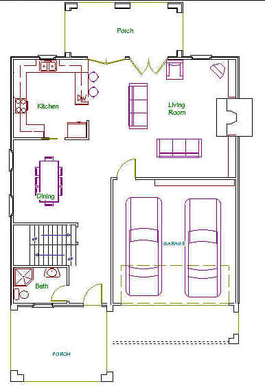 2 3 Bedroom House Plans A Frame besides 1400 Square Foot House Plans 3 Bedrooms further Long Narrow House Designs Plan And Section together with Beach Cottage House Plans further 2 Car Garage Plans With Pool For House. on narrow lot modular home plans with garage